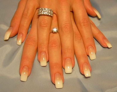 Фото нарощенных ногтей дизайн френч