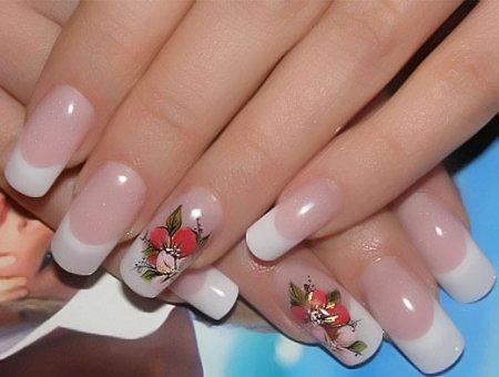 Летний дизайн нарощенных ногтей